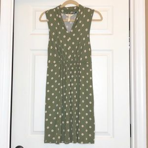 Matilda Jane Dot Your I's Green Polka Dot Dress
